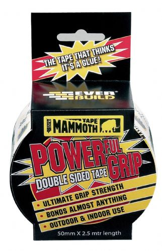 2.5M - Mammoth Powerful Grip Tape 50mm - Everbuild